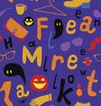 Halloween market seamless pattern vector