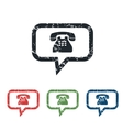 Mail message grunge icon set vector