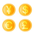Gold coin four monetary unit vector
