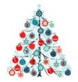 Christmas tree made of balls vector