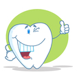 Happy smiling tooth cartoon character vector