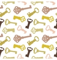 Seamless pattern with vintage keys vector