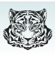 Tiger head isolated black silhouette vector