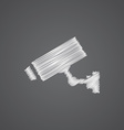 Security camera sketch logo doodle icon vector