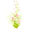Three floral on a grunge background for your desig vector