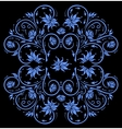 Abstract blue floral ornament vector