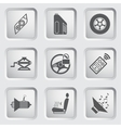 Car part and service icons set 5 vector