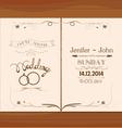 Wedding invitation floral retro vector