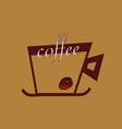 Coffee with beans color vector