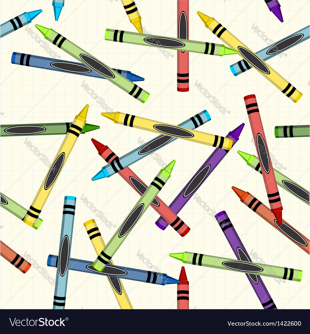 Color crayons pattern background vector   Price: 1 Credit (USD $1)