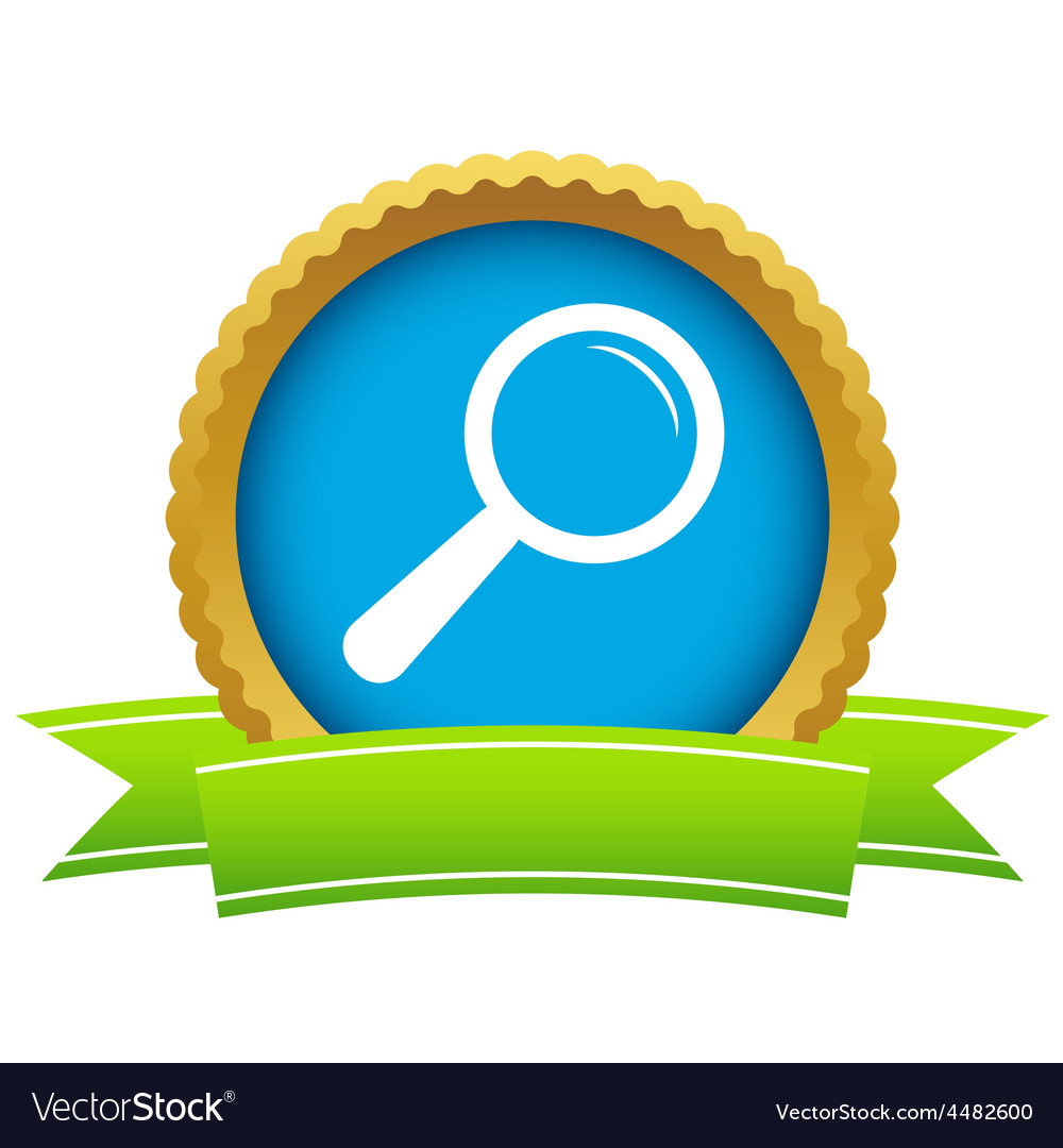 Gold magnifying glass logo vector | Price: 1 Credit (USD $1)