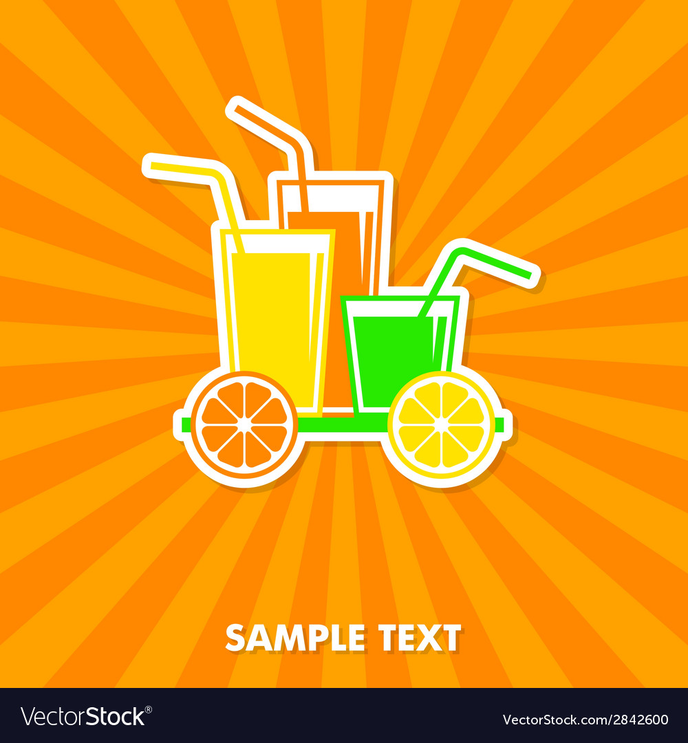 Juice concept card vector | Price: 1 Credit (USD $1)