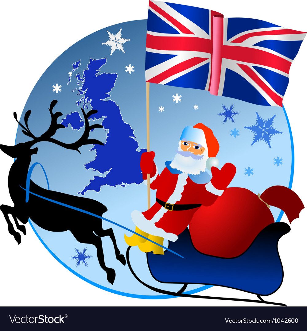 Merry christmas united kingdom vector | Price: 1 Credit (USD $1)