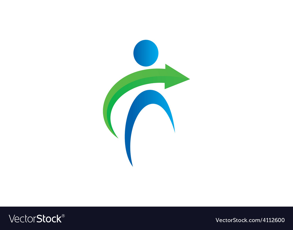 People abstract arrow logo vector | Price: 1 Credit (USD $1)