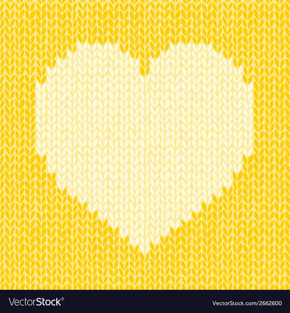 Seamless background with knitted heart romantic vector | Price: 1 Credit (USD $1)