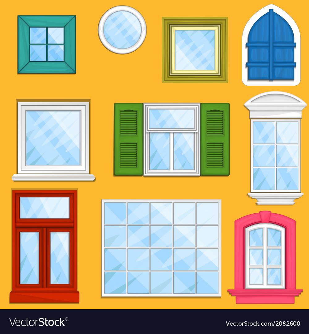 Set of windows vector | Price: 1 Credit (USD $1)