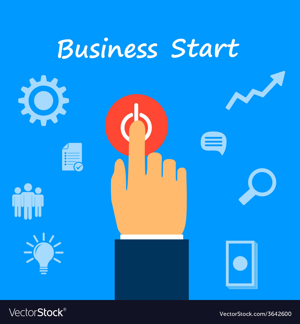 Start business vector | Price: 1 Credit (USD $1)
