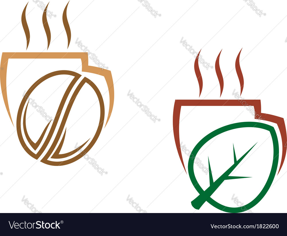 Two cups of steaming beverages vector | Price: 1 Credit (USD $1)