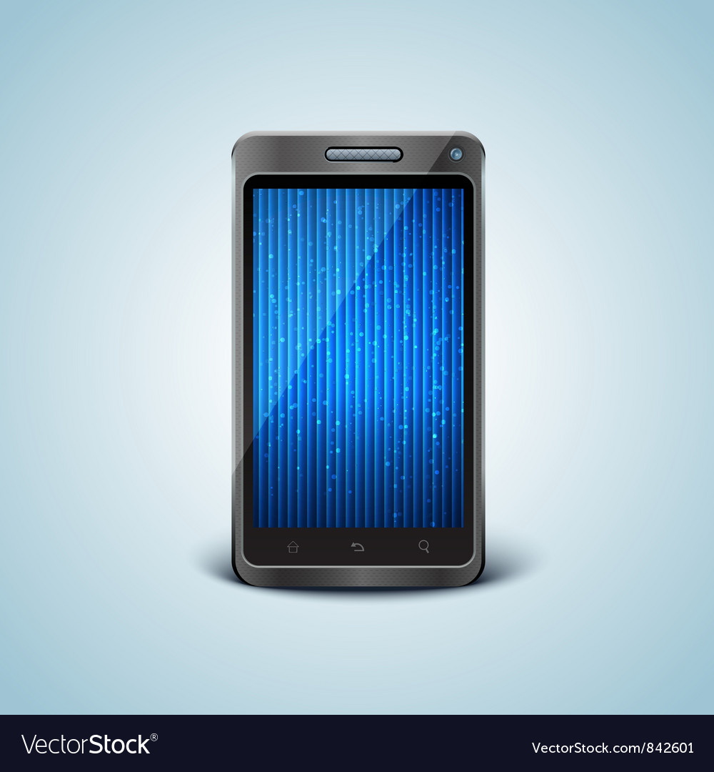 Cellphone in front view vector | Price: 1 Credit (USD $1)