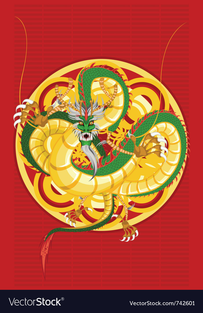 Chinese dragon new year vector | Price: 1 Credit (USD $1)
