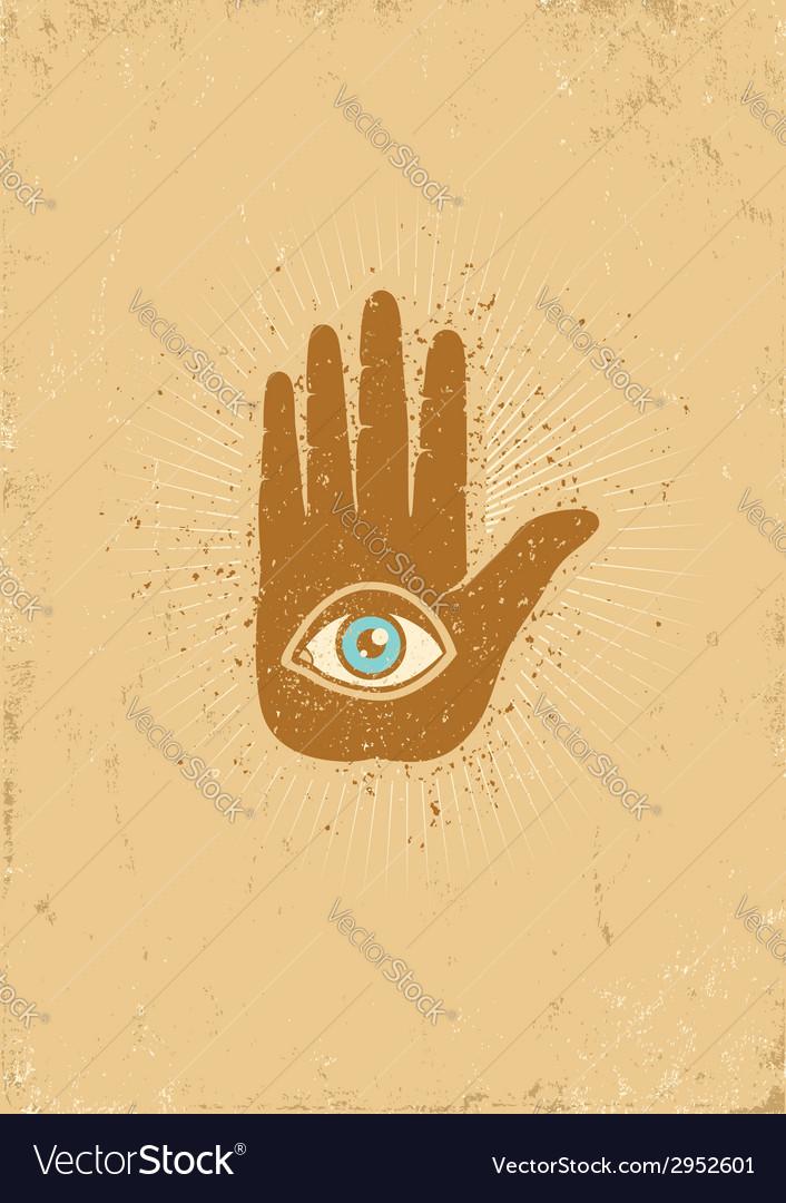 Eye hand grunge vector | Price: 1 Credit (USD $1)