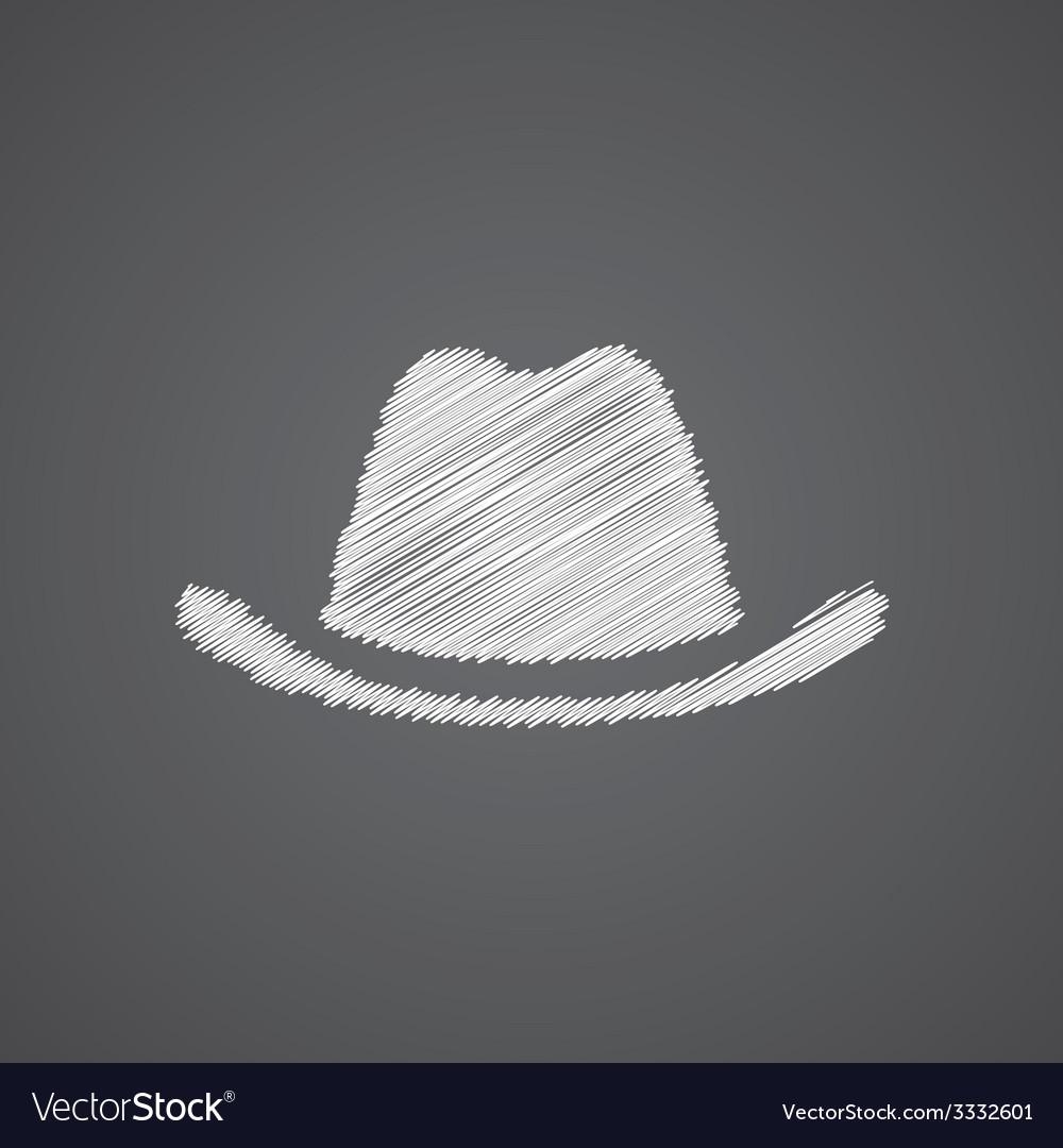 Hat sketch logo doodle icon vector | Price: 1 Credit (USD $1)