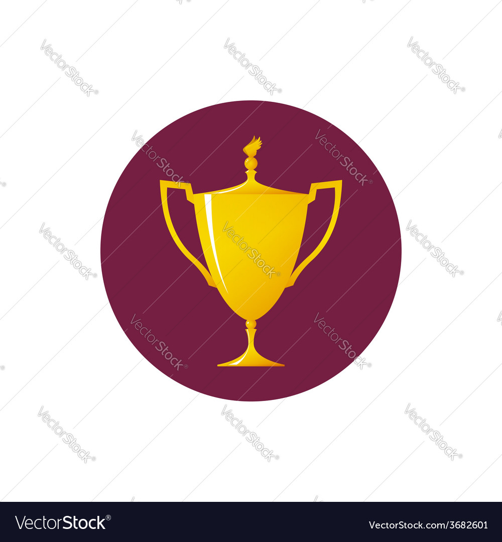 Icon cup of winner vector | Price: 1 Credit (USD $1)