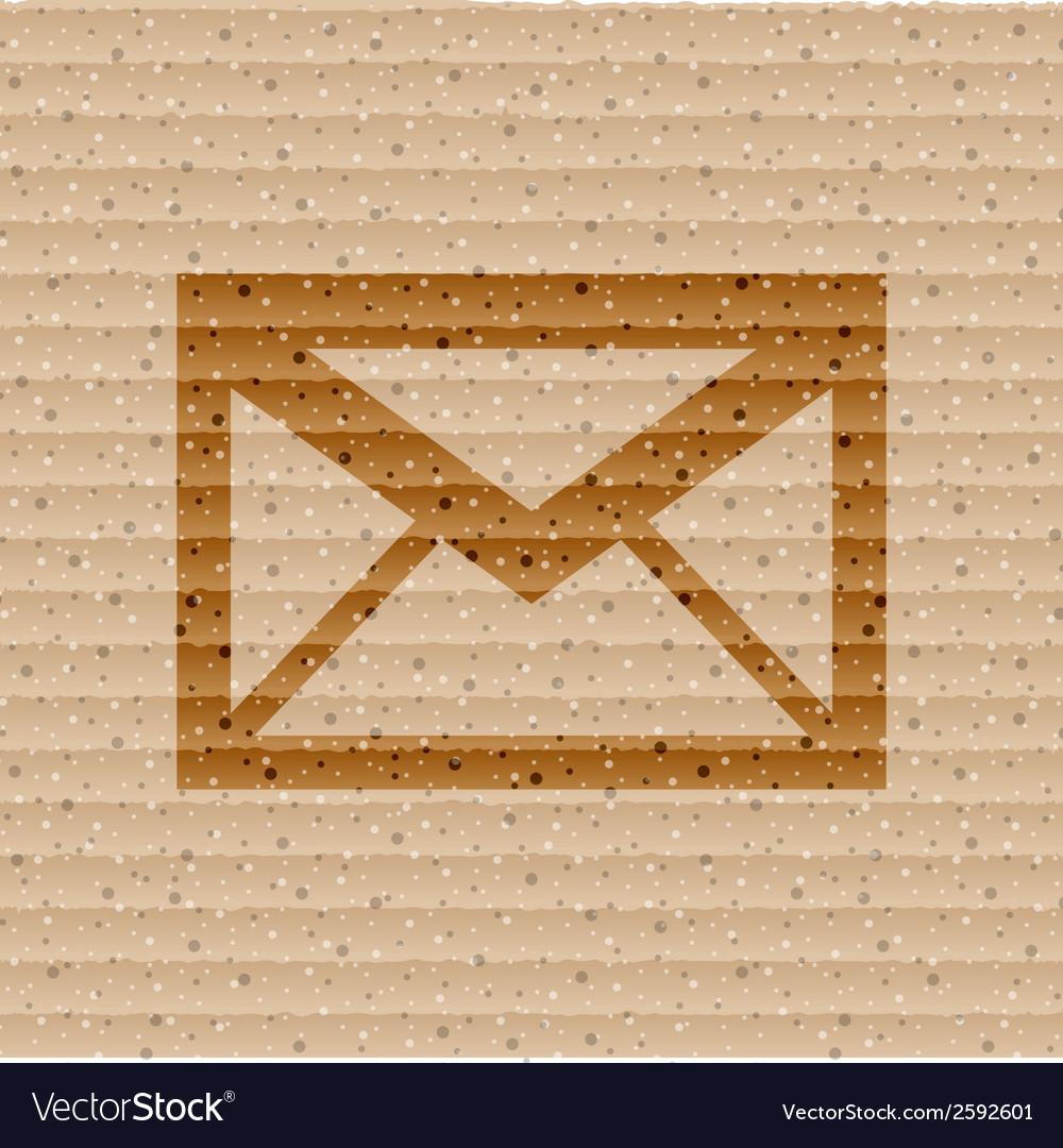 Mail envelope flat modern web button and space for vector | Price: 1 Credit (USD $1)