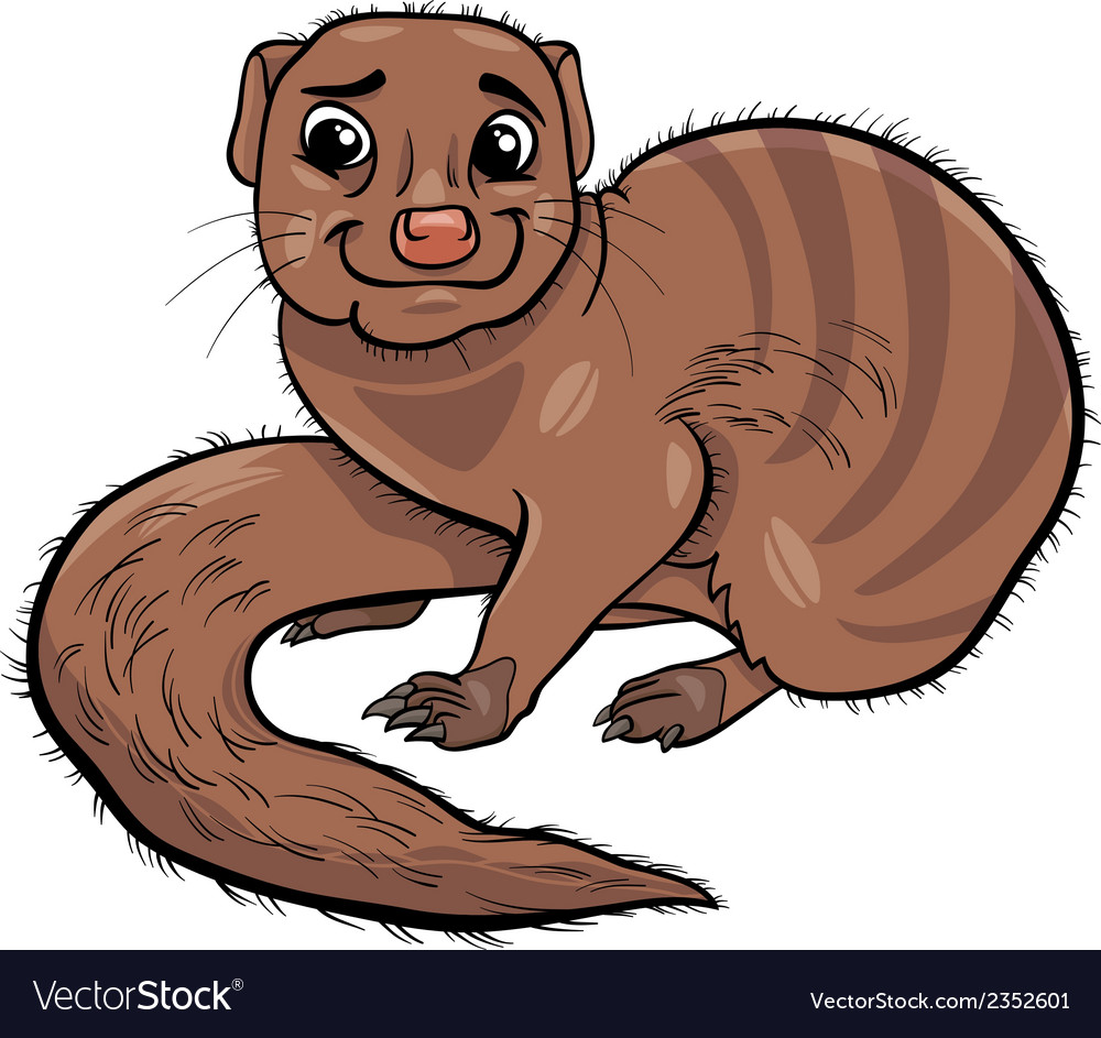Mongoose animal cartoon vector | Price: 1 Credit (USD $1)