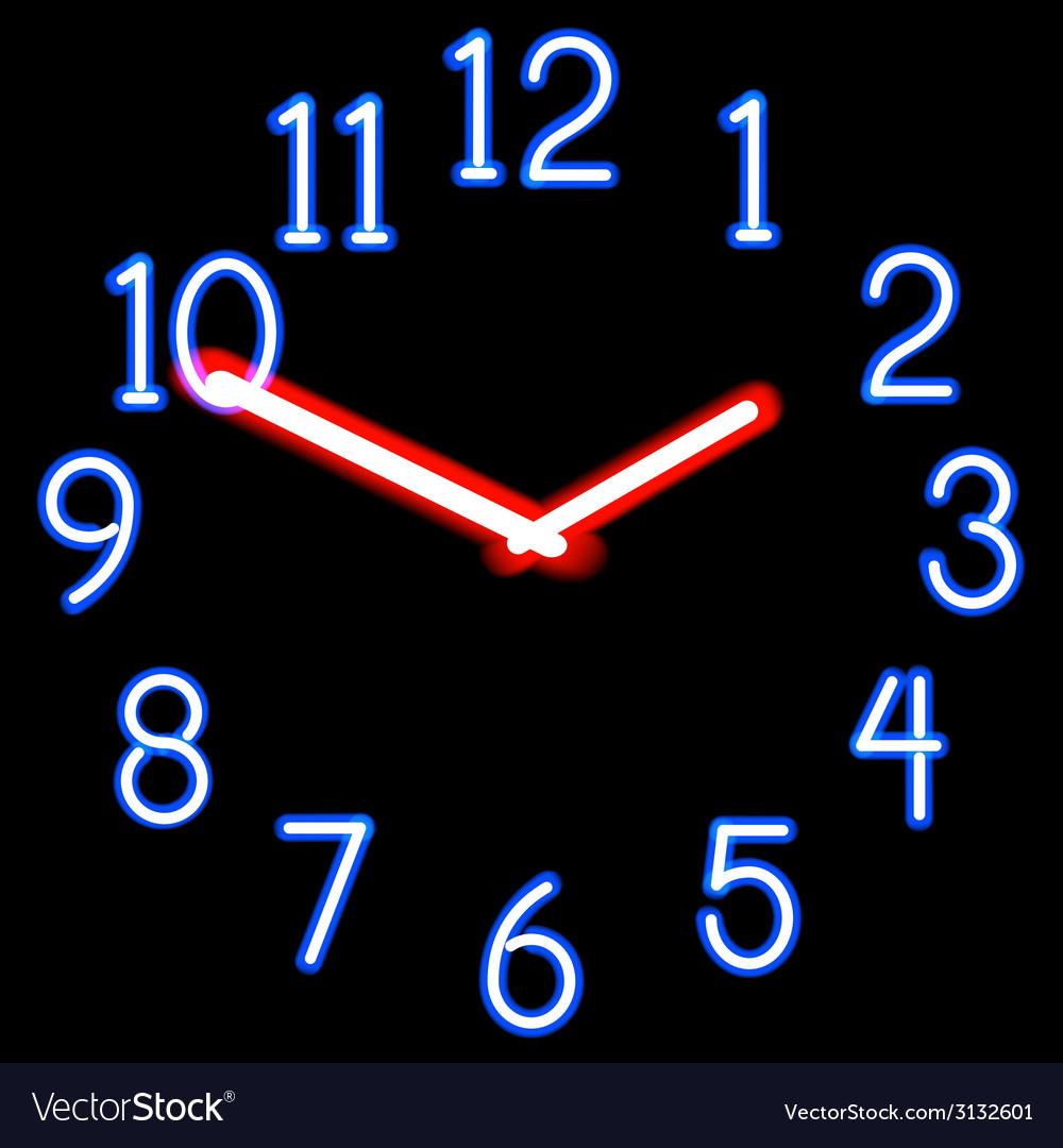 Neon clocks vector   Price: 1 Credit (USD $1)