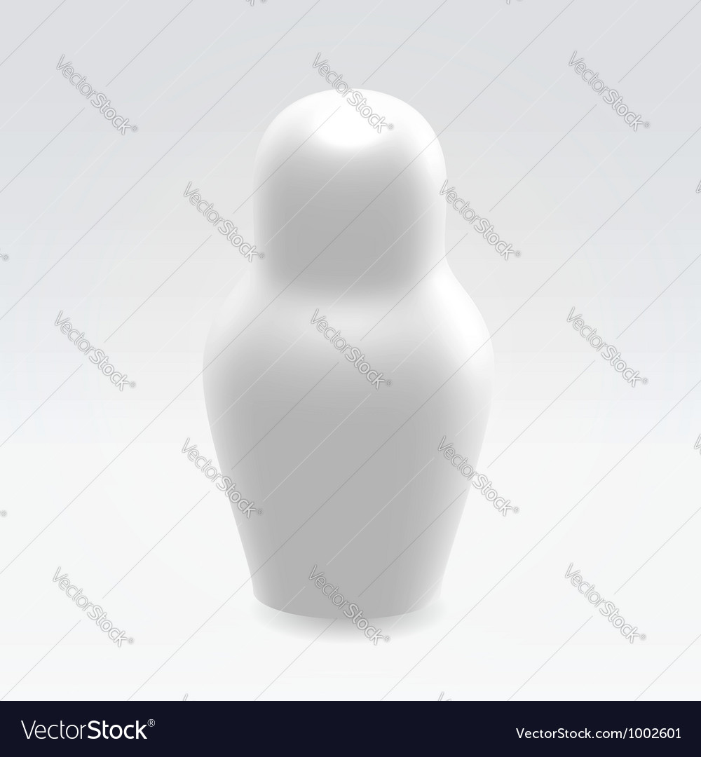 Silver nest doll vector | Price: 1 Credit (USD $1)