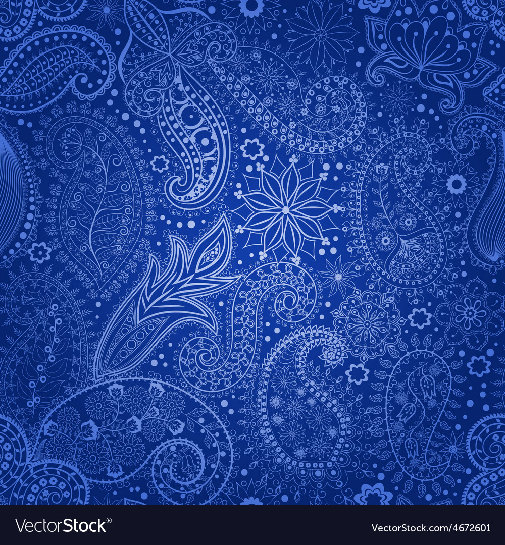 Vintage floral motif ethnic seamless background vector | Price: 1 Credit (USD $1)