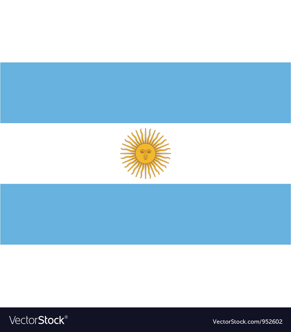 Argentinian flag vector | Price: 1 Credit (USD $1)