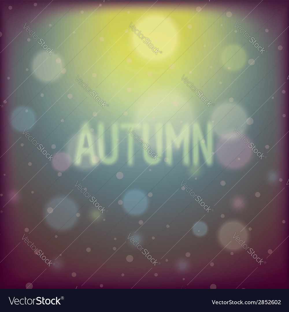 Autumn shiny glare background vector | Price: 1 Credit (USD $1)