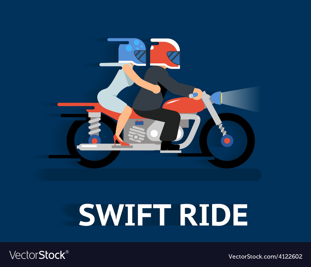 Cartooned swift ride concept design vector | Price: 1 Credit (USD $1)