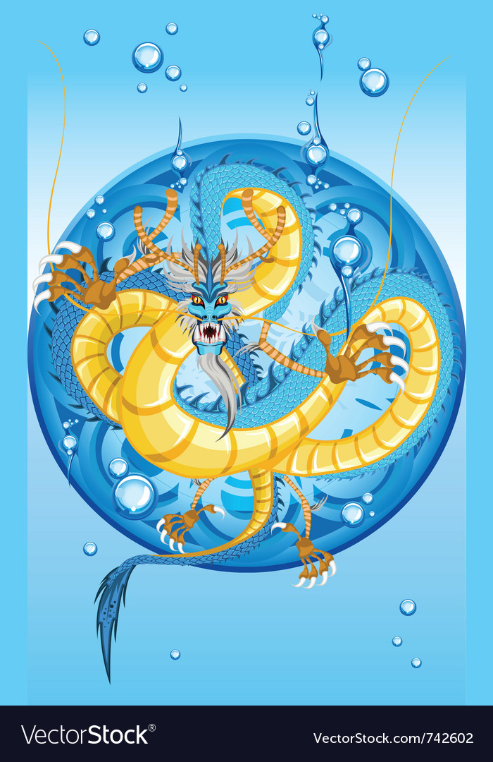 Chinese water dragon new year vector | Price: 3 Credit (USD $3)