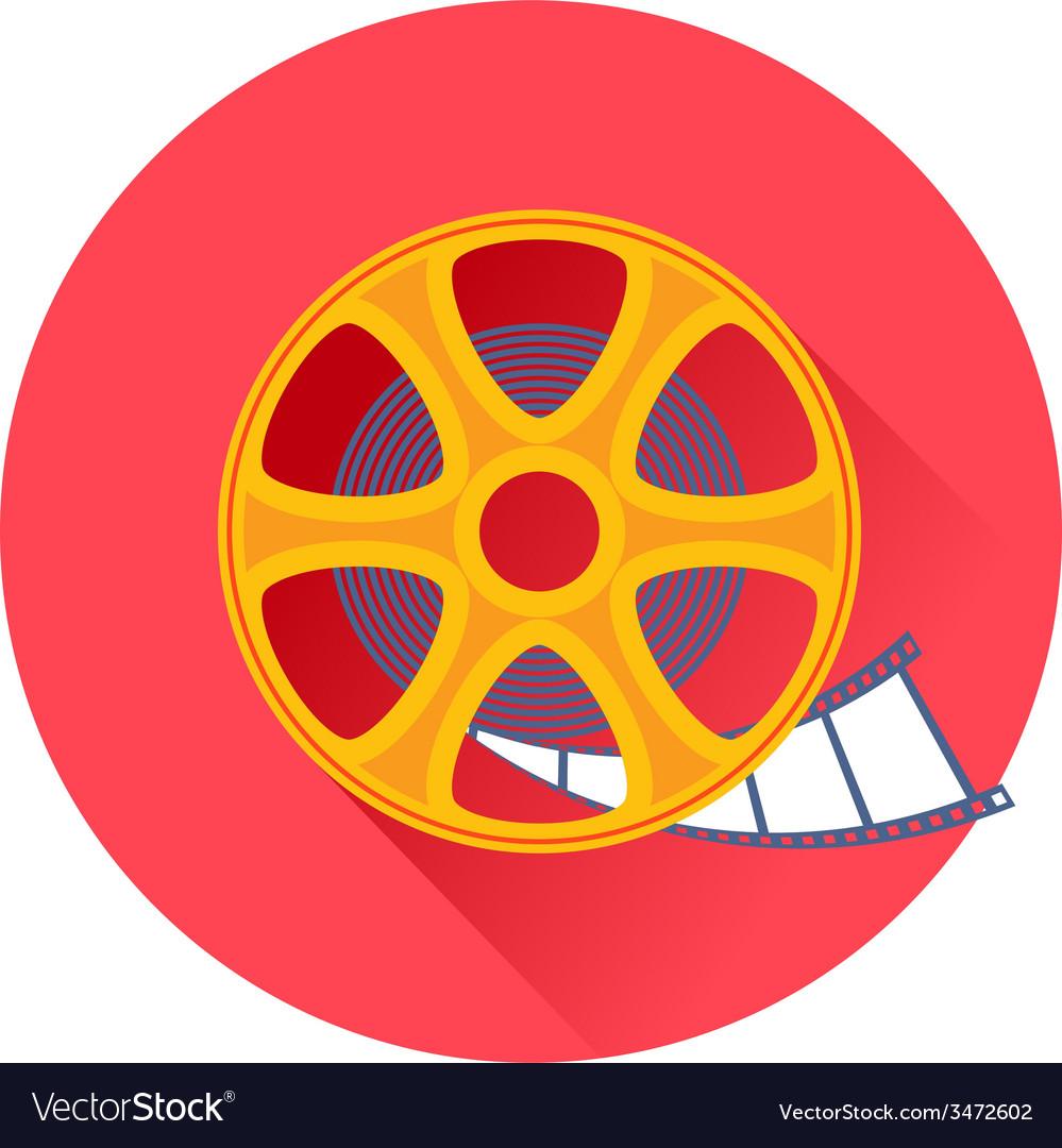Cinema film movie reel icon vector   Price: 1 Credit (USD $1)