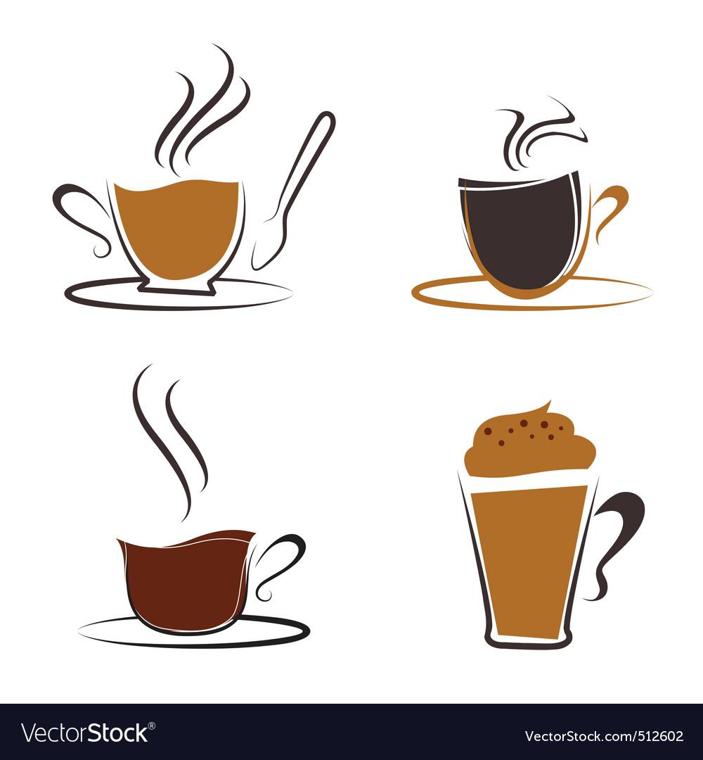 Coffee elements vector | Price: 1 Credit (USD $1)