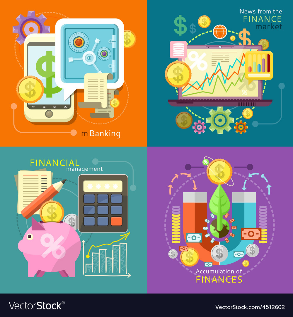 Mbanking finance market management vector   Price: 1 Credit (USD $1)