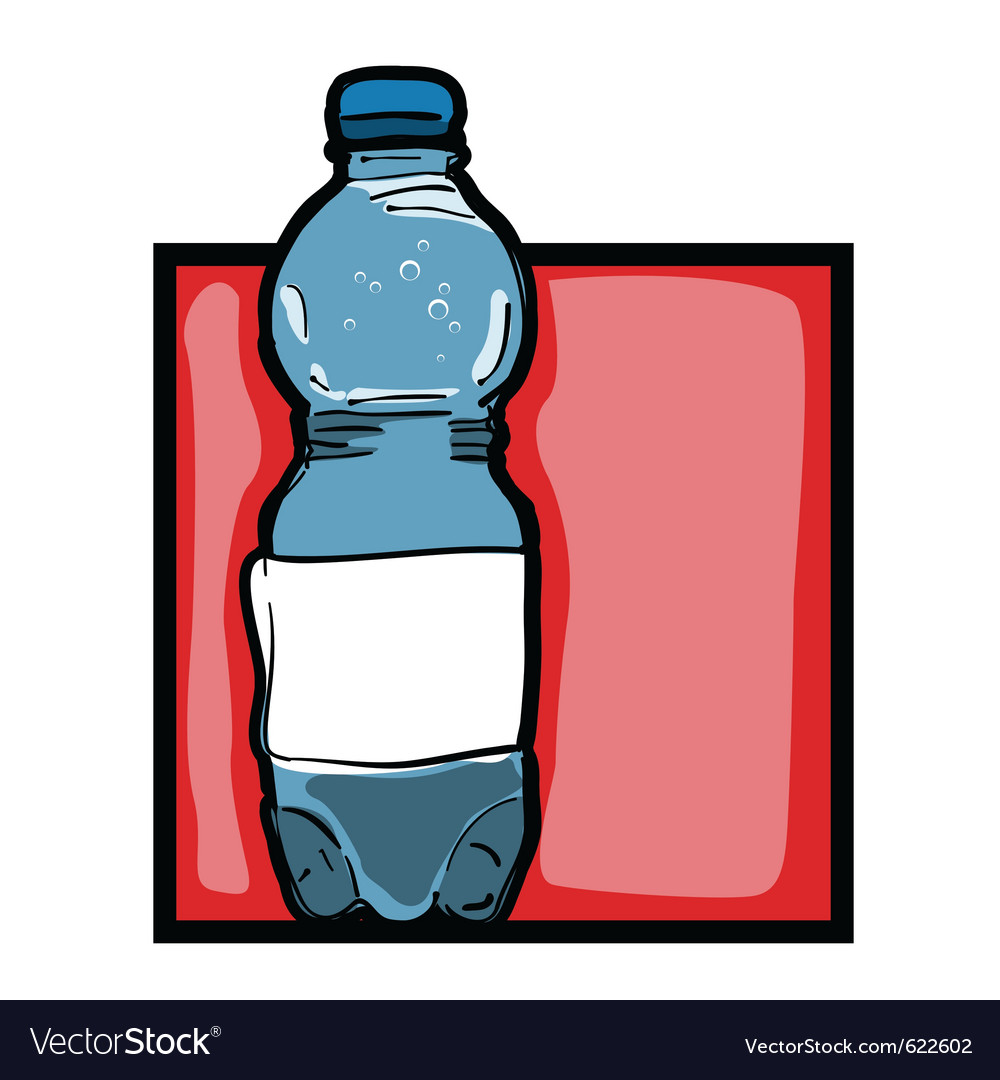 Mineral water bottle vector | Price: 1 Credit (USD $1)