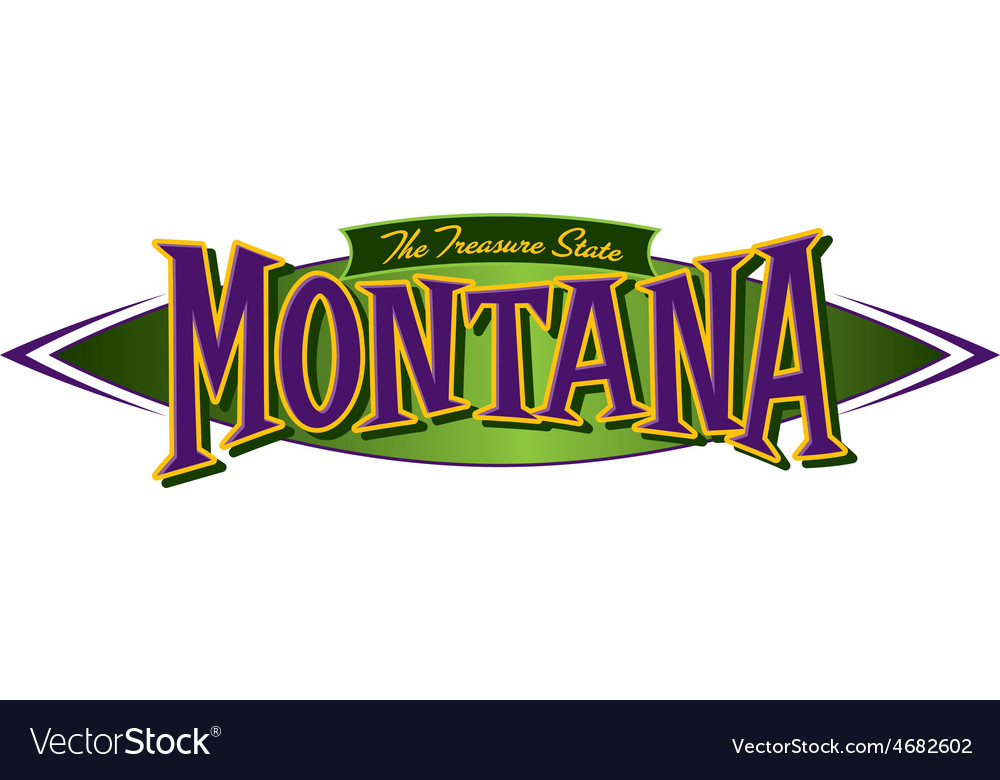 Montana the treasure state vector | Price: 1 Credit (USD $1)