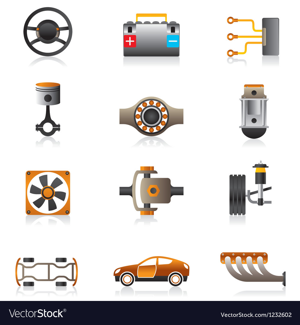 Parts of the car engine vector | Price: 1 Credit (USD $1)