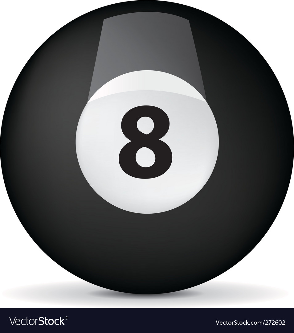 Pool billiards ball vector | Price: 1 Credit (USD $1)