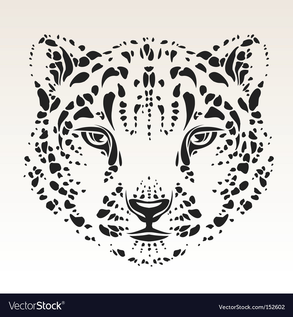 Snow leopard head vector | Price: 1 Credit (USD $1)