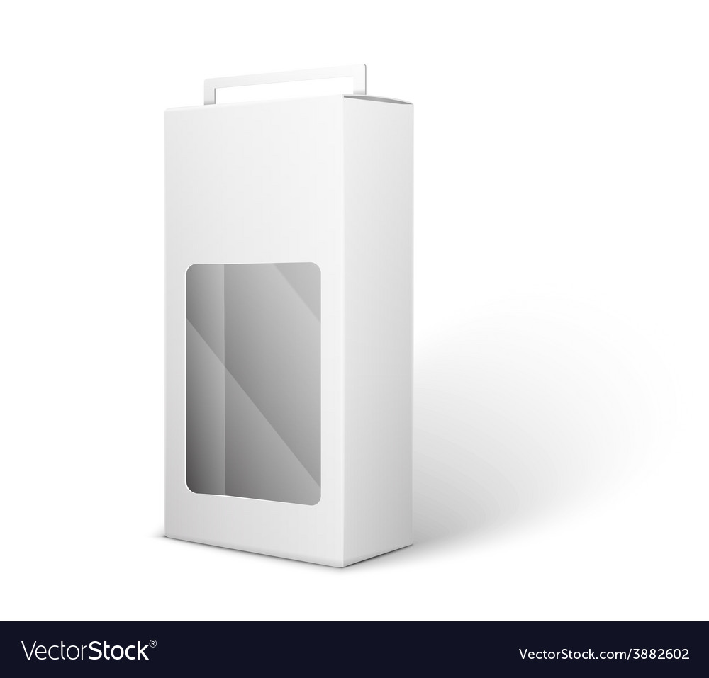 White product package box isolated on white vector   Price: 1 Credit (USD $1)