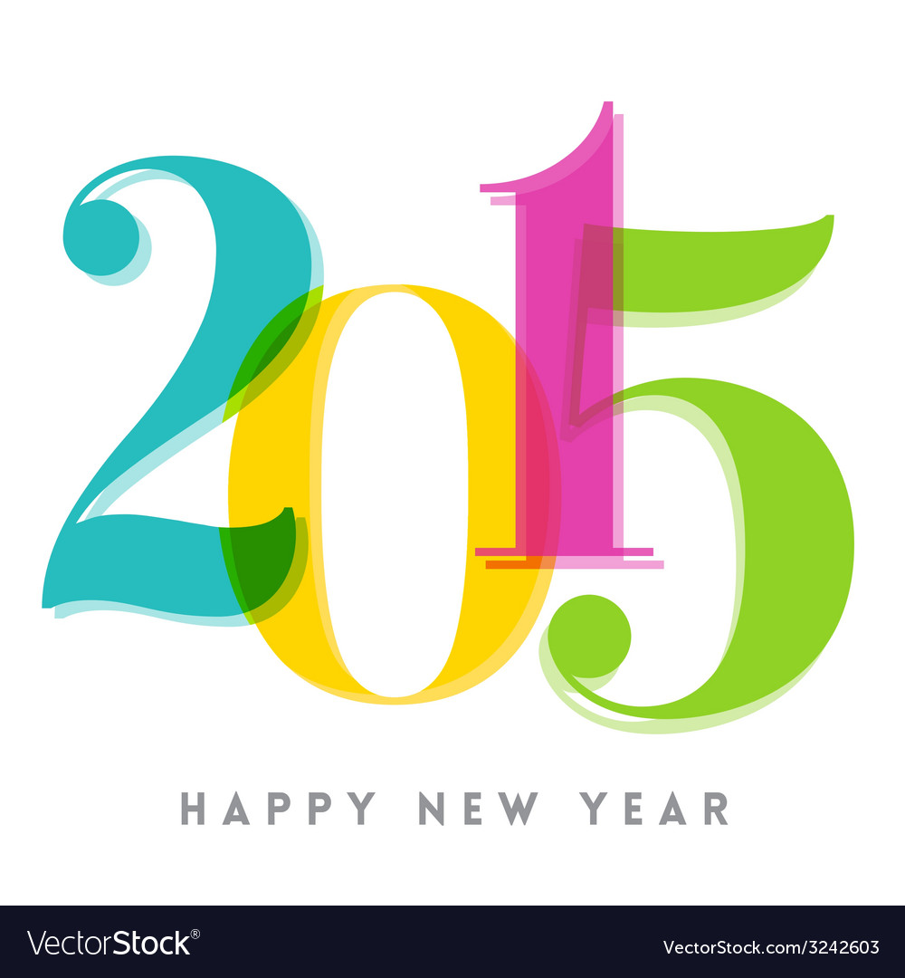 2015 happy new year number vector | Price: 1 Credit (USD $1)