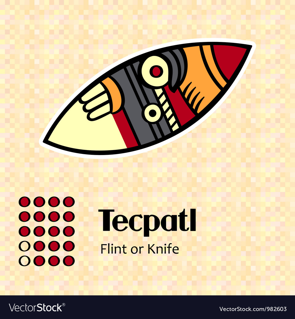 Aztec symbol tecpatl vector   Price: 1 Credit (USD $1)