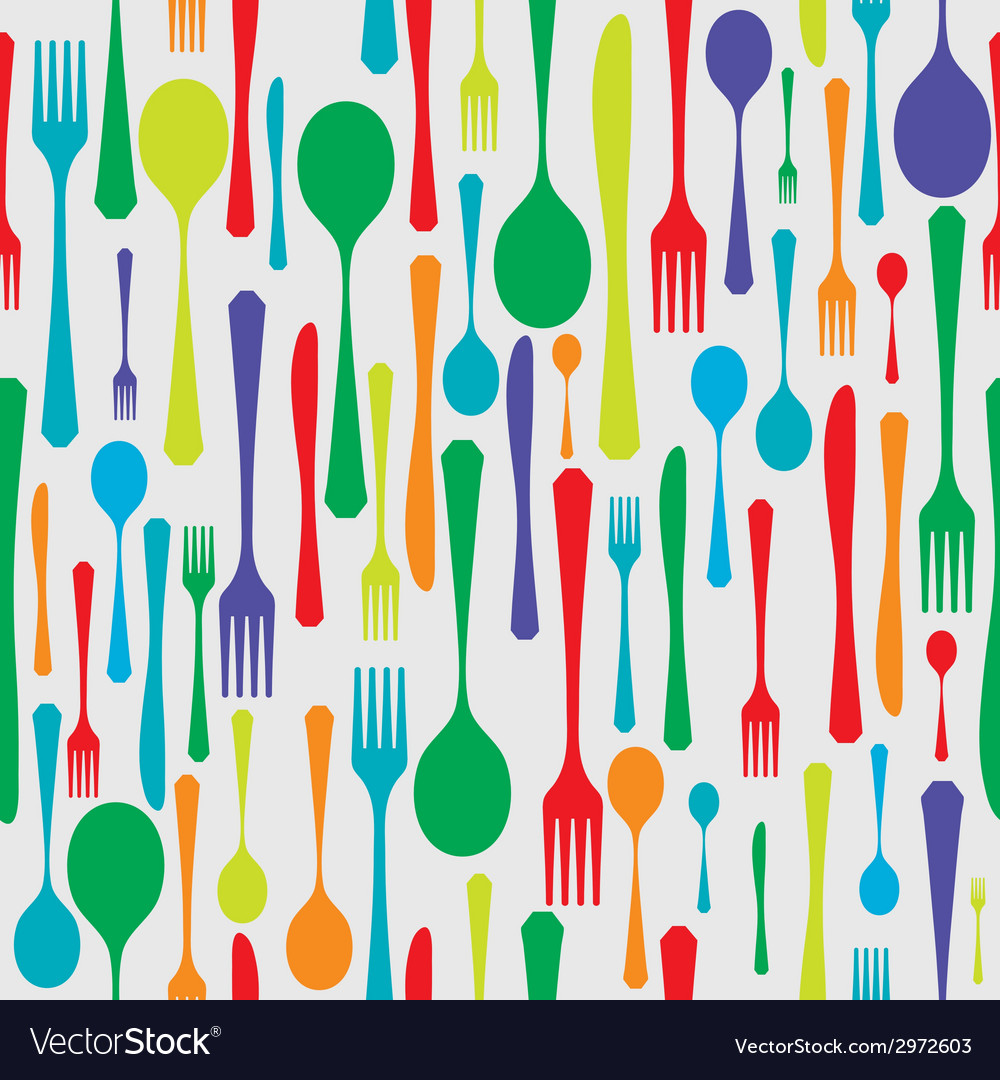 Cutlery background color vector | Price: 1 Credit (USD $1)