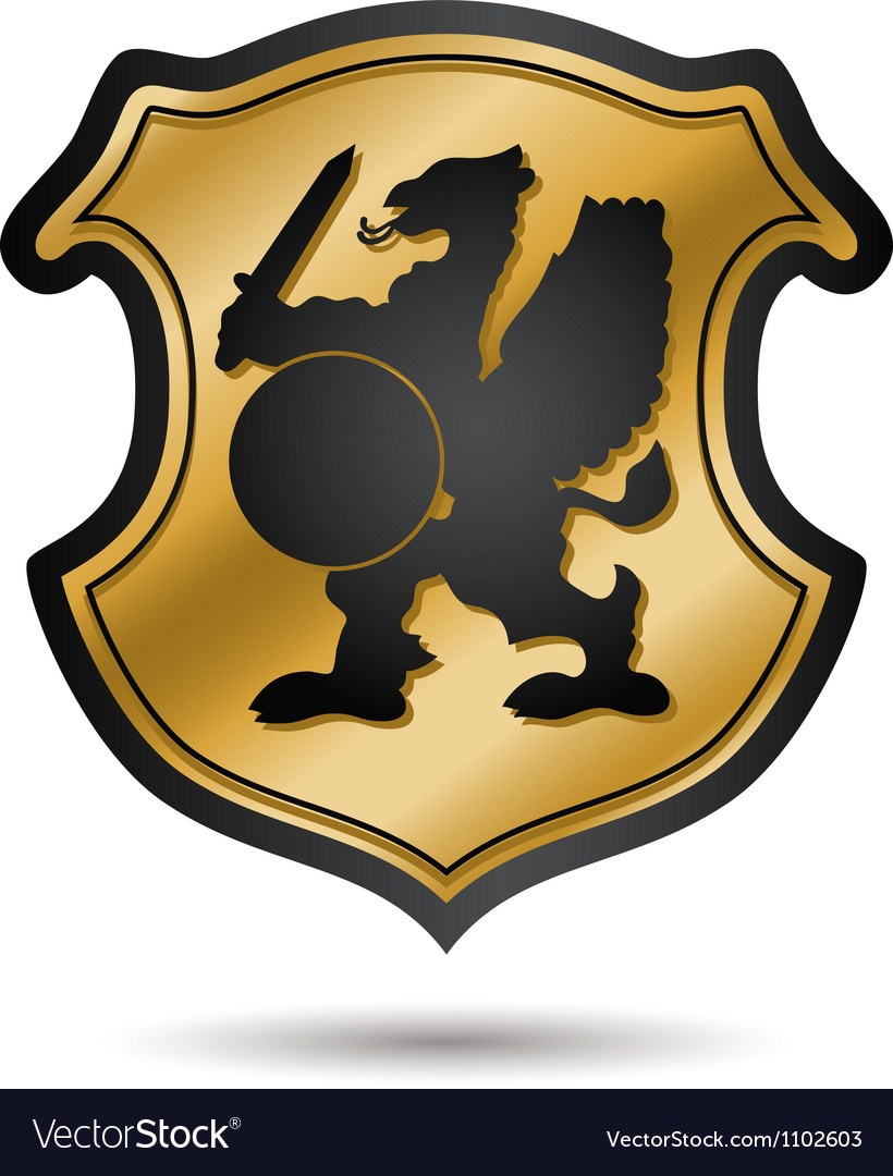 Heraldic coat of arms vector | Price: 1 Credit (USD $1)