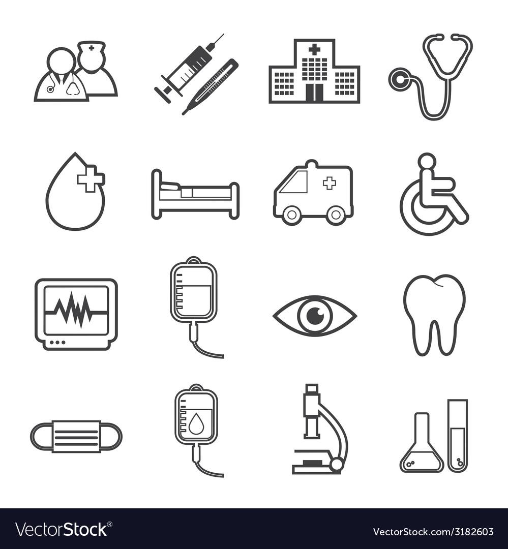 Hospital icon vector | Price: 1 Credit (USD $1)